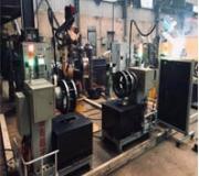 钢模法兰亚搏app官网下载机器人双工位集成系统